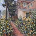 "Acyrlic on Panel Entitled"" Sidewalk Garden"" by John Suplee"